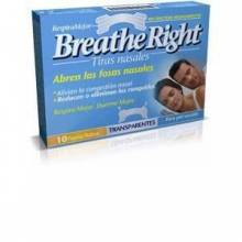 Breathe right transparentes grandes 10 unidades