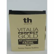 Th pharma vitalia perfect gold iluminador, reparador y firmeza facial kit 2 ml 2 unidades