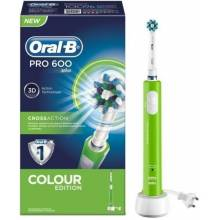 Oral b cepillo eléctrico pro 600 cross action verde