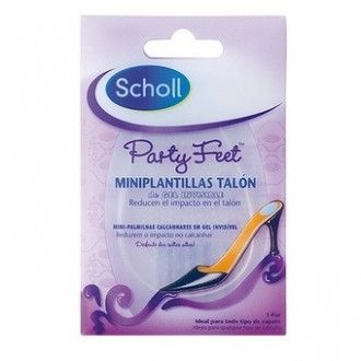 Scholl plantillas gel mini party feet ultrafinas