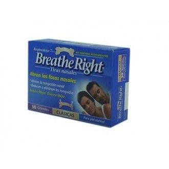 Breathe right nasal T/G 30 unid
