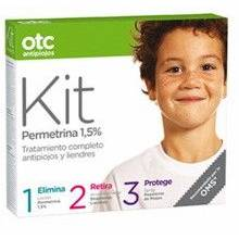 Otc antipiojos kit permetrina 1,5% locion 125 ml + acondicionador 125 ml + spray repelente 125 ml