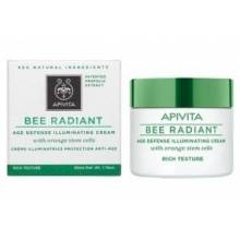 Apivita bee radiant crema iluminadora piel normal/seca 50 ml