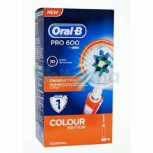Oral b cepillo eléctrico pro 600 cross action naranja
