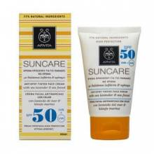 Apivita Sun care 50+ antimanchas con color
