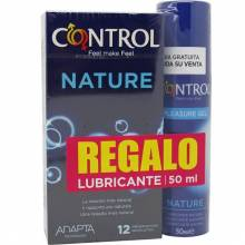 Control preservativos nature 12 unidades + pleasure gel 50 ml