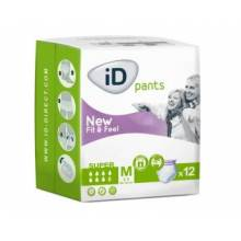Absorbente incontinencia ligera ID PANTS super TM 12 u