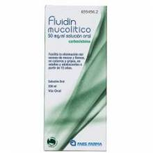 FLUIDIN MUCOLITICO 50 MG/ML SOLUCION ORAL 200 ML