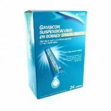 GAVISCON 24 SOBRES SUSPENSION ORAL 10 ML