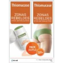 Thiomucase zonas rebeldes anticelulitico mujer kit stick 75 ml 2 u