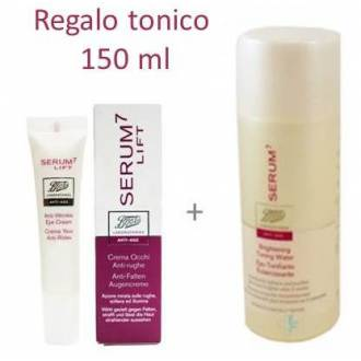 Pack serum 7 lift crema contorno de ojos antiarrugas +serum 7 tonico iluminador 150 ml