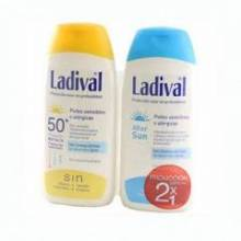 Proteccion solar piel sensible o alergica spf 50 ladival gel-crema + aftersun