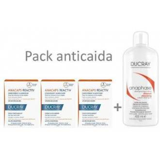 Ducray anacaps Reactiv 60 caps + regalo 30 + anaphase 400ml
