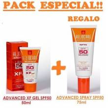 Heliocare advanced XF Gel SPF 50 50 ML + 7 ampollas endocare oil free+ 3 mascarillas peeling
