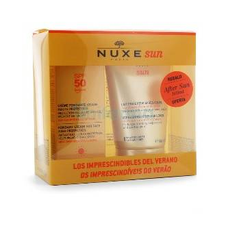 Nuxe sun crema fundente spf 50 50 ml + Aftersun 100 ml