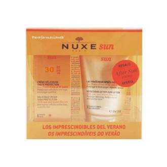 Nuxe sun crema fundente spf30 50 ml + leche para despues del sol 100 ml