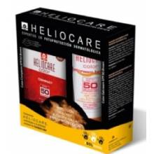 Heliocare gel-crema color brown spf50 50 ml + heliocare compacto oli-free color brown spf 50 10g