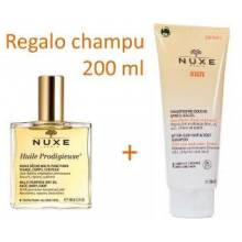 Nuxe prodigieuse aceite huile seco 100 ml + regalo champu after sun 200 ml