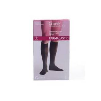 Calcetin elastico compresion normal farmalastic t-m color negro