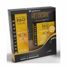 Heliocare 360º gel oil free color Bronze intenso + polvos compactos 360 bronze intenso