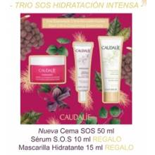Caudalie crema hidratacion intensa S.O.S 40 ml + vionosource serum 10 ml + Macarilla hidratante 15 ml