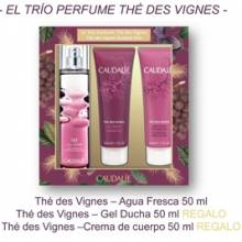 Caudalie cofre the des vignes 50 ml + Caudalie gel de ducha 50 ml + Caudalie locion corporal 50 ml