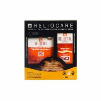 Heliocare gel-crema color light spf50 50 ml + heliocare compacto oil-free spf50 color light 10g