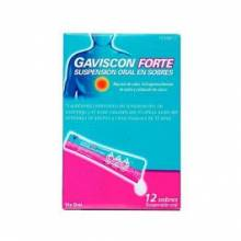 GAVISCON FORTE 12 SOBRES SUSPENSION ORAL 10 ML