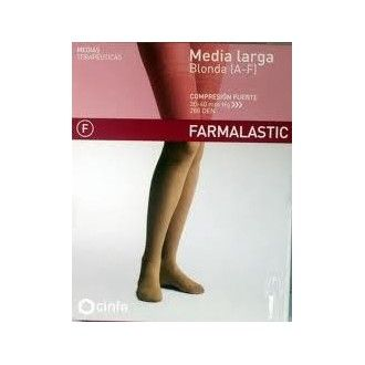 Media larga (A-F) comp normal farmalastic blonda camel T.M