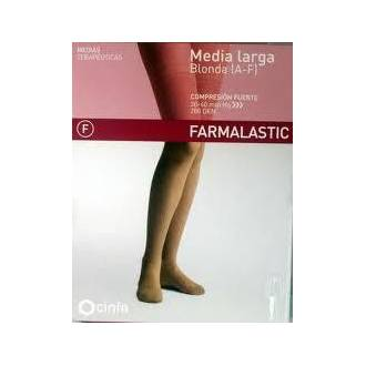 Media larga (A-F) comp normal farmalastic blonda camel T.G