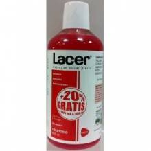 Lacer colutorio enjuague bucal con fluor sin alcohol 500 ml+100 ml gratis